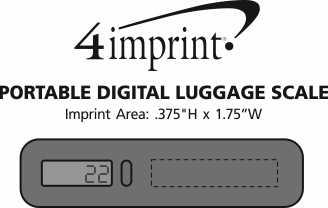 Imprint Area of Portable Digital Luggage Scale