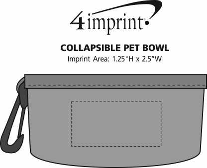 Imprint Area of Collapsible Pet Bowl