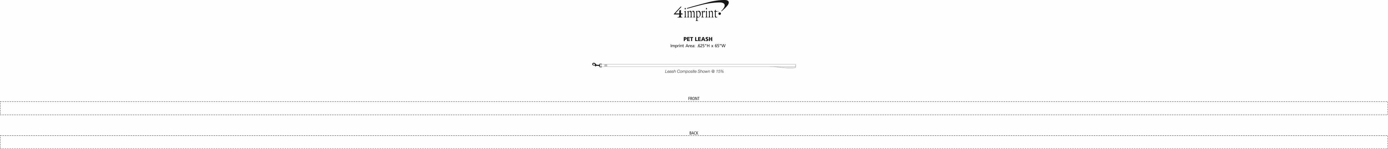 Imprint Area of Pet Leash
