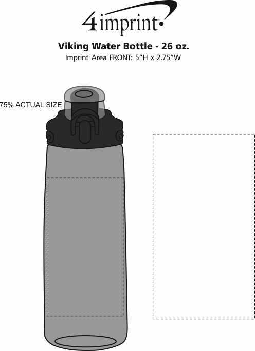 Imprint Area of Viking Water Bottle - 26 oz.