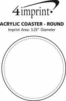 Imprint Area of Acrylic Coaster - Round