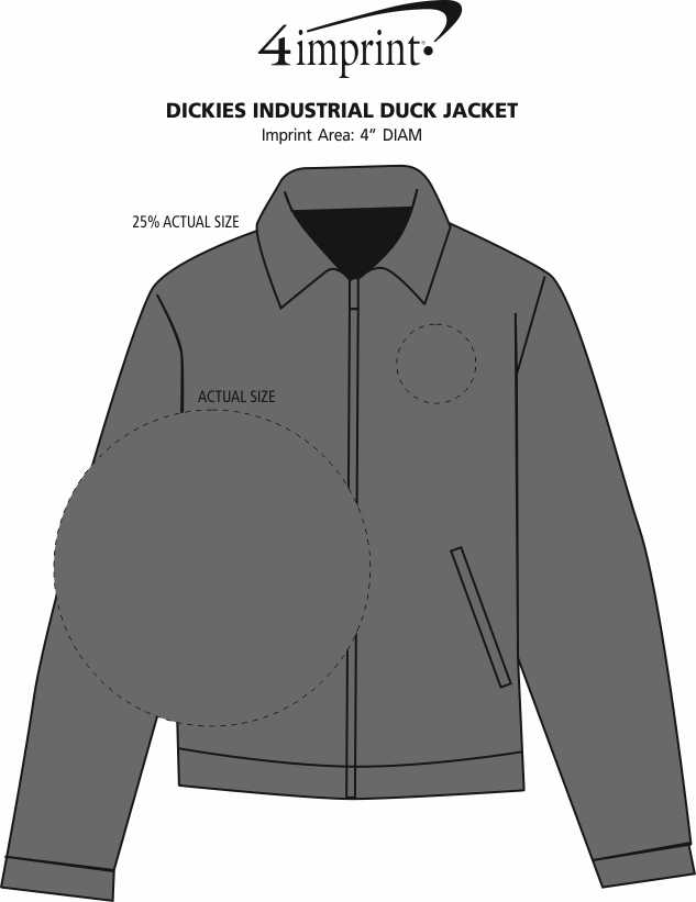Imprint Area of Dickies Industrial Duck Jacket