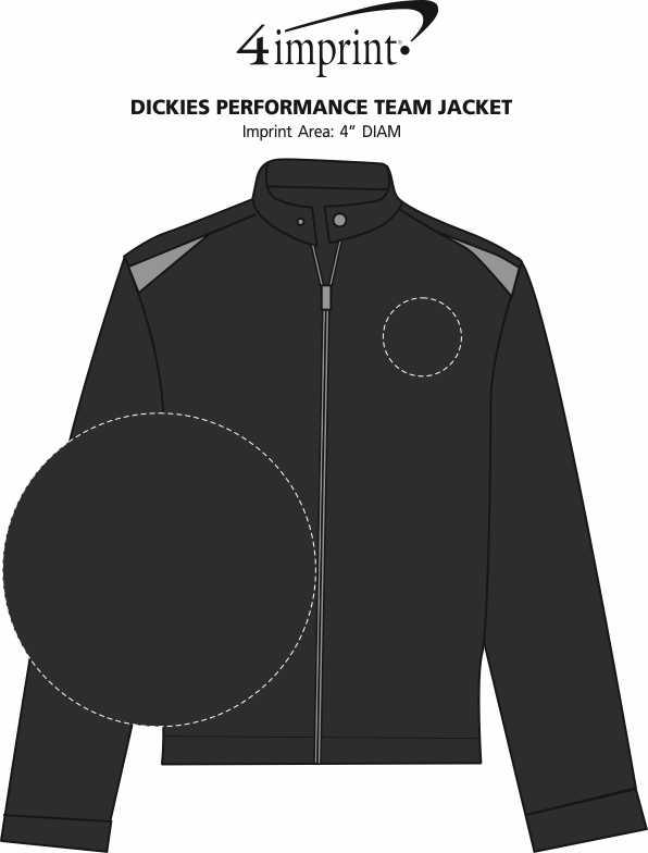 Imprint Area of Dickies Performance Team Jacket