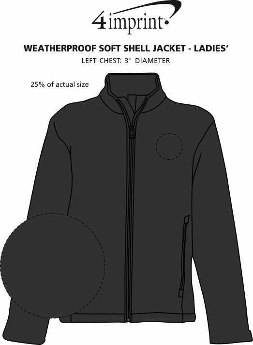 Imprint Area of Weatherproof Soft Shell Jacket - Ladies'
