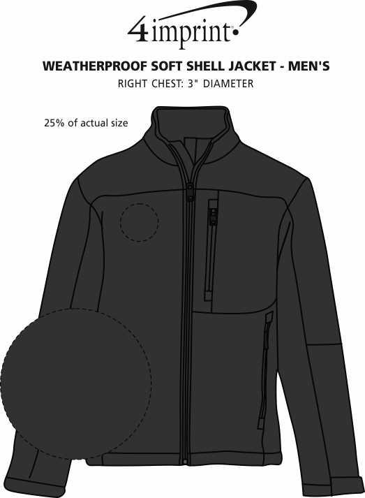 Imprint Area of Weatherproof Soft Shell Jacket - Men's