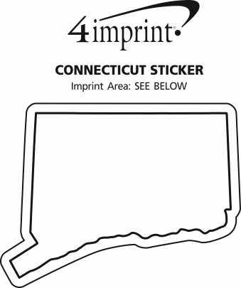 Imprint Area of Connecticut Sticker