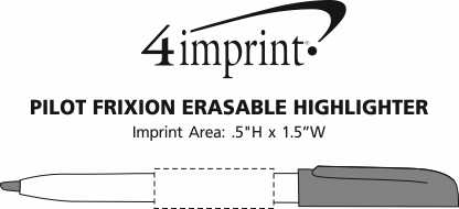 Imprint Area of Pilot FriXion Erasable Highlighter