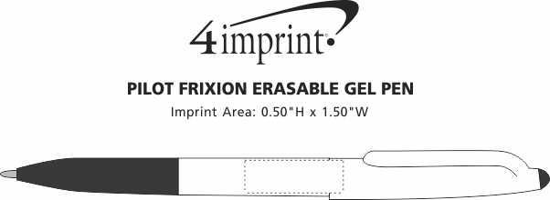 Imprint Area of Pilot FriXion Erasable Gel Pen