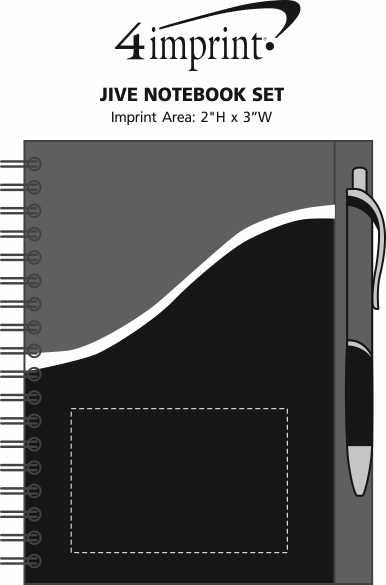 Imprint Area of Jive Notebook Set