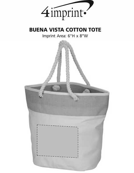 Imprint Area of Buena Vista Cotton Tote