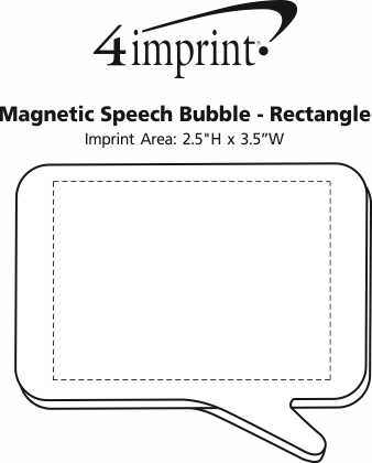 Imprint Area of Magnetic Speech Bubble - Rectangle