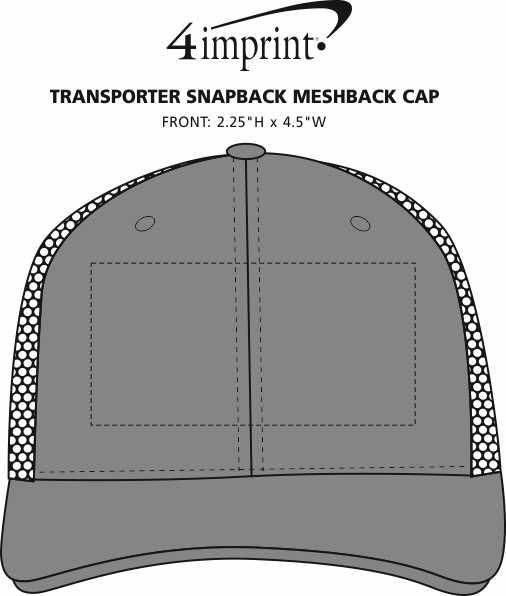 Imprint Area of Transporter Snapback Meshback Cap
