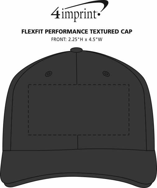 Imprint Area of Flexfit Performance Textured Cap