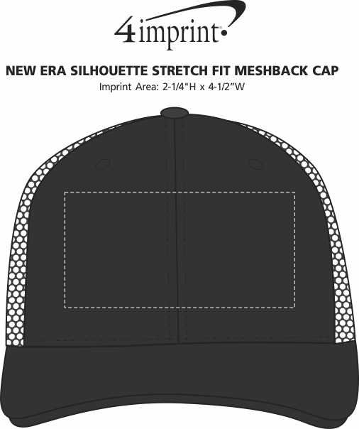 Imprint Area of New Era Silhouette Stretch Fit Meshback Cap