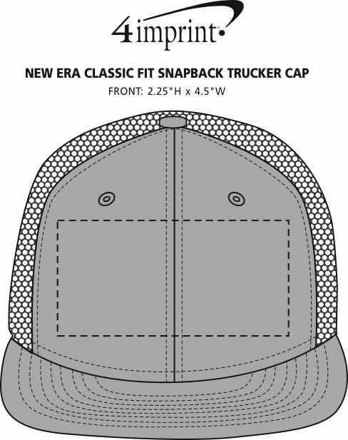 Imprint Area of New Era Classic Fit Snapback Trucker Cap