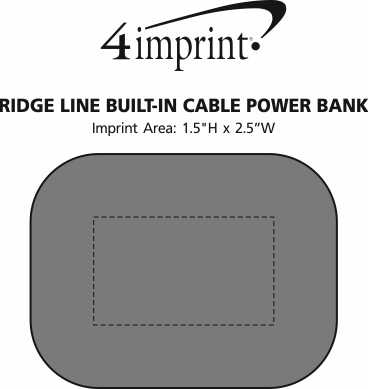 Imprint Area of Ridge Line Built-in Cable Power Bank