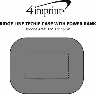 Imprint Area of Ridge Line Techie Case with Power Bank