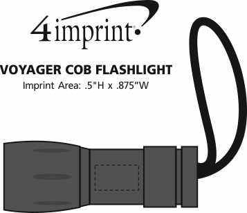 Imprint Area of Voyager COB Flashlight