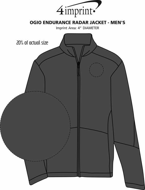 Imprint Area of OGIO Endurance Radar Jacket - Men's