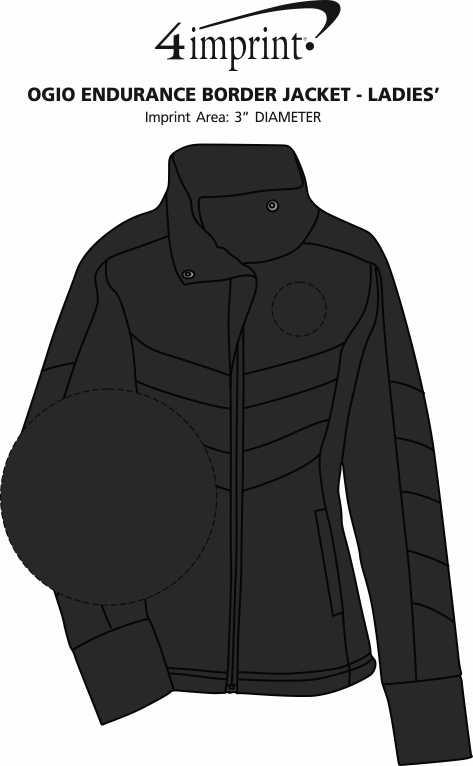 Imprint Area of OGIO Endurance Border Jacket - Ladies'