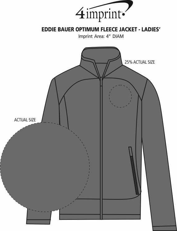 Imprint Area of Eddie Bauer Optimum Fleece Jacket - Ladies'