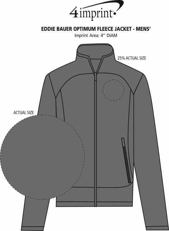 Imprint Area of Eddie Bauer Optimum Fleece Jacket - Men's