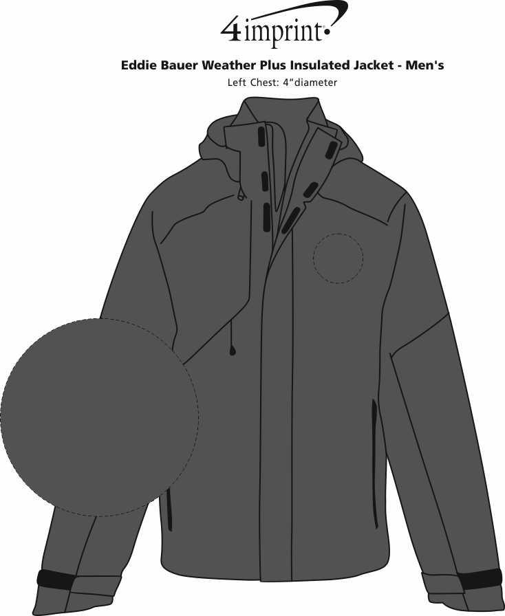 Imprint Area of Eddie Bauer Weather Plus Insulated Jacket - Men's