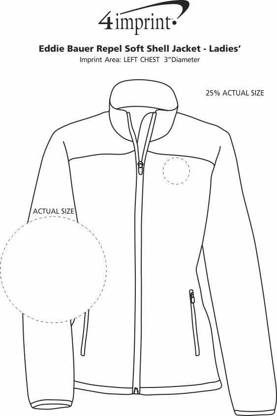 Imprint Area of Eddie Bauer Repel Soft Shell Jacket - Ladies'