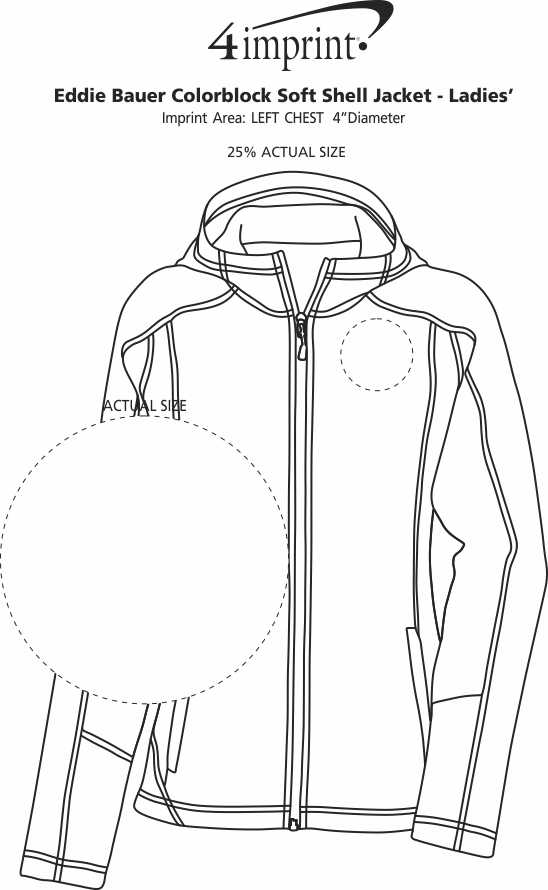 Imprint Area of Eddie Bauer Colorblock Soft Shell Jacket - Ladies'