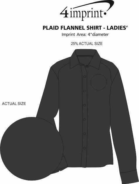 Imprint Area of Plaid Flannel Shirt - Ladies'