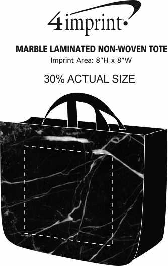 Imprint Area of Marble Laminated Non-Woven Tote