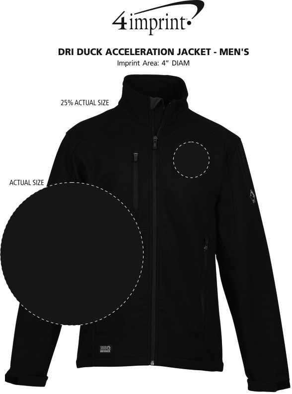 Imprint Area of DRI DUCK Acceleration Jacket - Men's