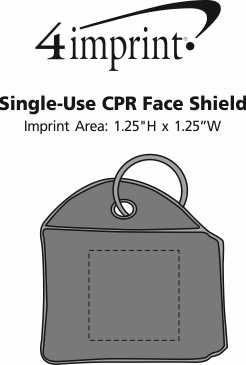 Imprint Area of Single-Use CPR Face Shield