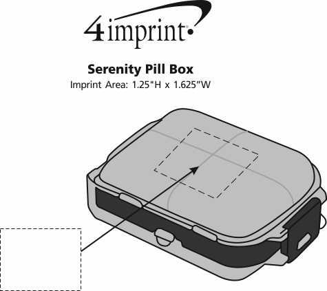 Imprint Area of Serenity Pill Box