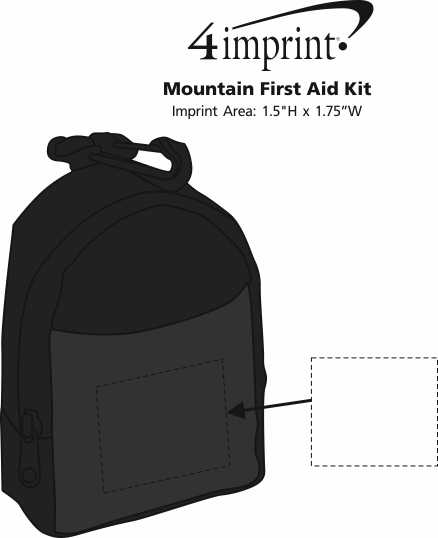 Imprint Area of Mountain First Aid Kit