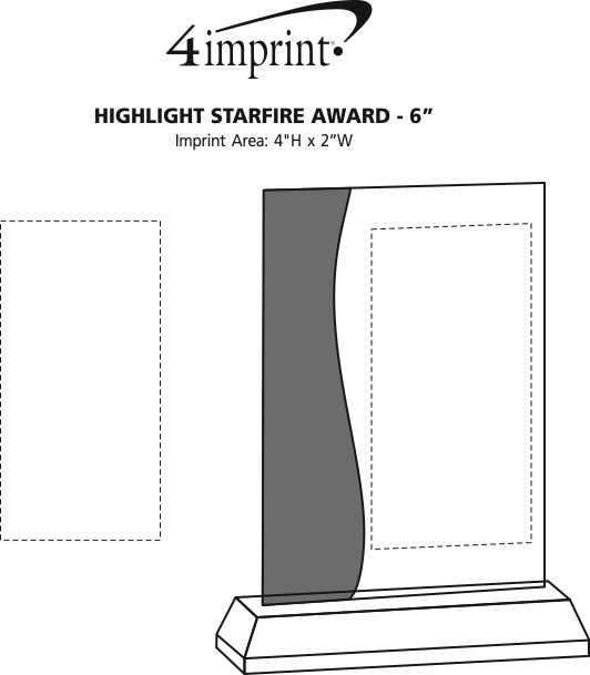 "Imprint Area of Highlight Starfire Award - 6"""