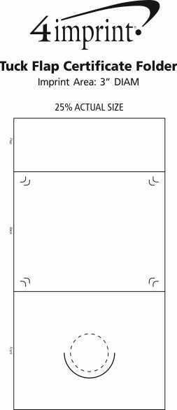 Imprint Area of Tuck Flap Certificate Folder