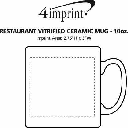 Imprint Area of Restaurant Vitrified Coffee Mug - 10 oz.