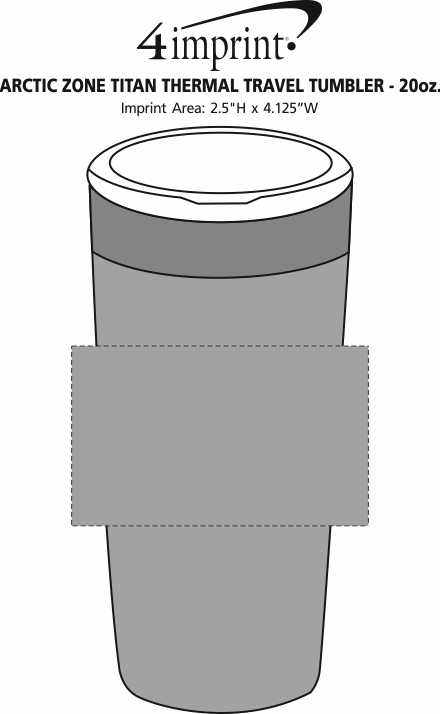 Imprint Area of Arctic Zone Titan Thermal Tumbler - 20 oz.