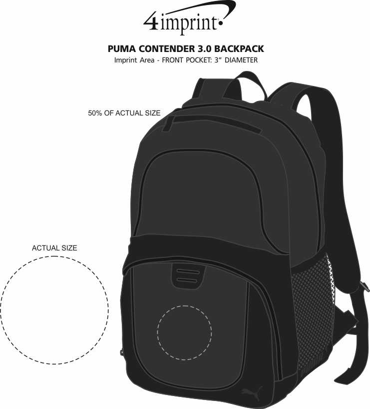 Imprint Area of PUMA Contender 3.0 Backpack