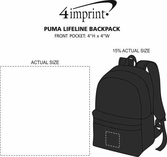Imprint Area of PUMA Lifeline Backpack