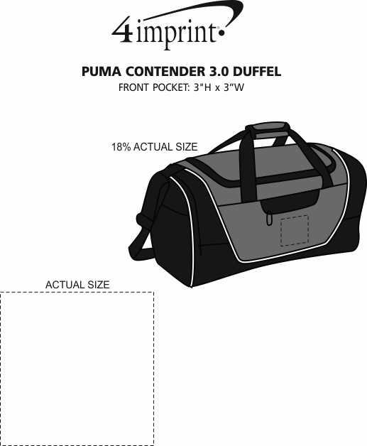 Imprint Area of PUMA Contender 3.0 Duffel