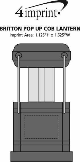 Imprint Area of Britton Pop Up COB Lantern