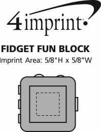 Imprint Area of Fidget Fun Block