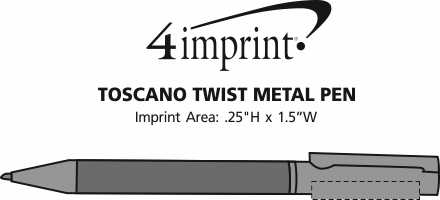 Imprint Area of Toscano Twist Metal Pen
