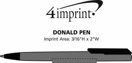Imprint Area of Donald Soft Touch Pen