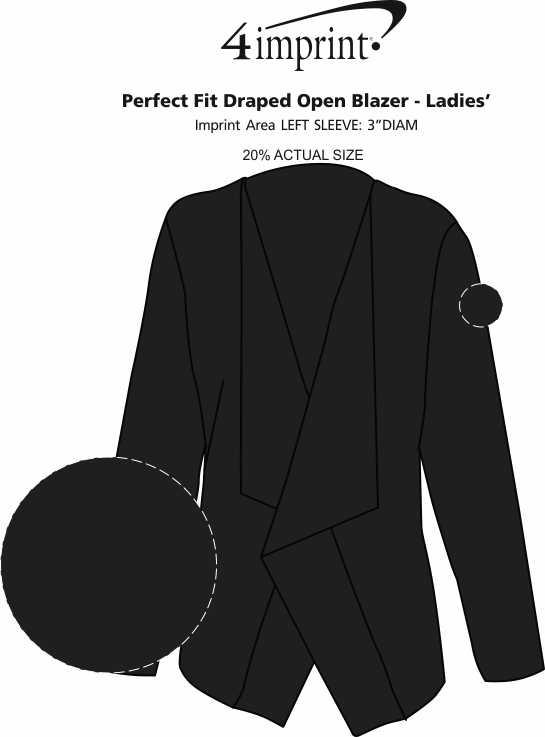 Imprint Area of Perfect Fit Draped Open Blazer - Ladies'