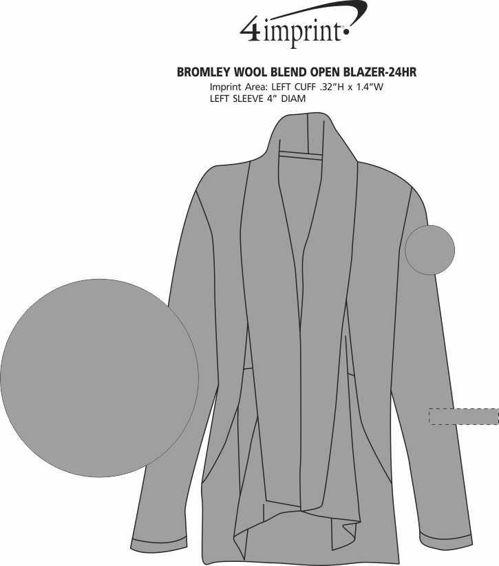 Imprint Area of Bromley Wool Blend Open Blazer - 24 hr