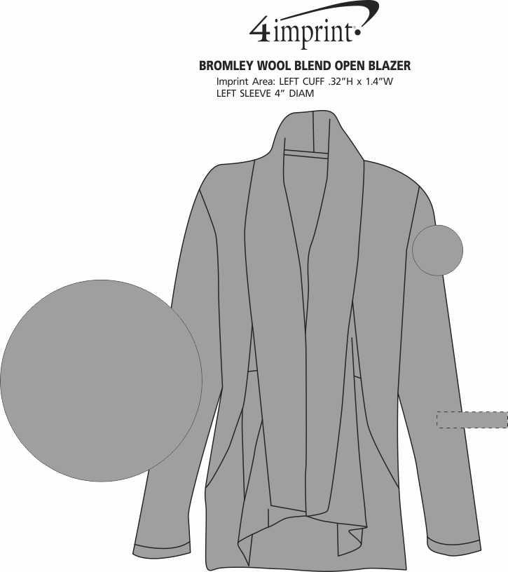 Imprint Area of Bromley Wool Blend Open Blazer