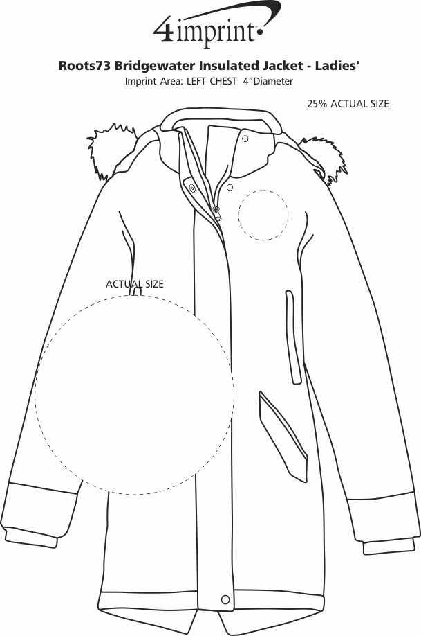 Imprint Area of Roots73 Bridgewater Insulated Jacket - Ladies'